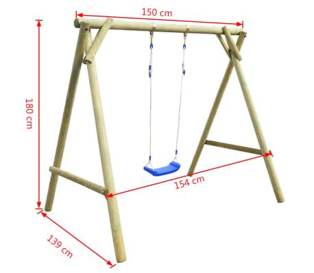vidaXL Huśtawka ogrodowa, 154x139x180 cm, impregnowane drewno FSC[6/7]