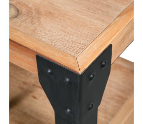 vidaXL Bettrahmen 2 Nachttische Akazienholz Massiv Stahl 180x200 cm[11/14]