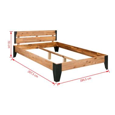vidaXL Cadre de lit et 2 tables de chevet Acacia Acier 180 x 200 cm[13/14]