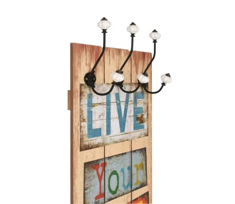 vidaXL Wall-mounted Coat Rack with 6 Hooks 120x40 cm LIVE LIFE[3/6]