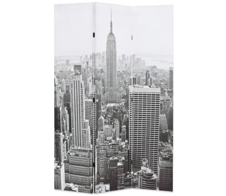 vidaXL Kambario pertvara, 120x170 cm, Niujorkas dieną, juoda ir balta[1/5]