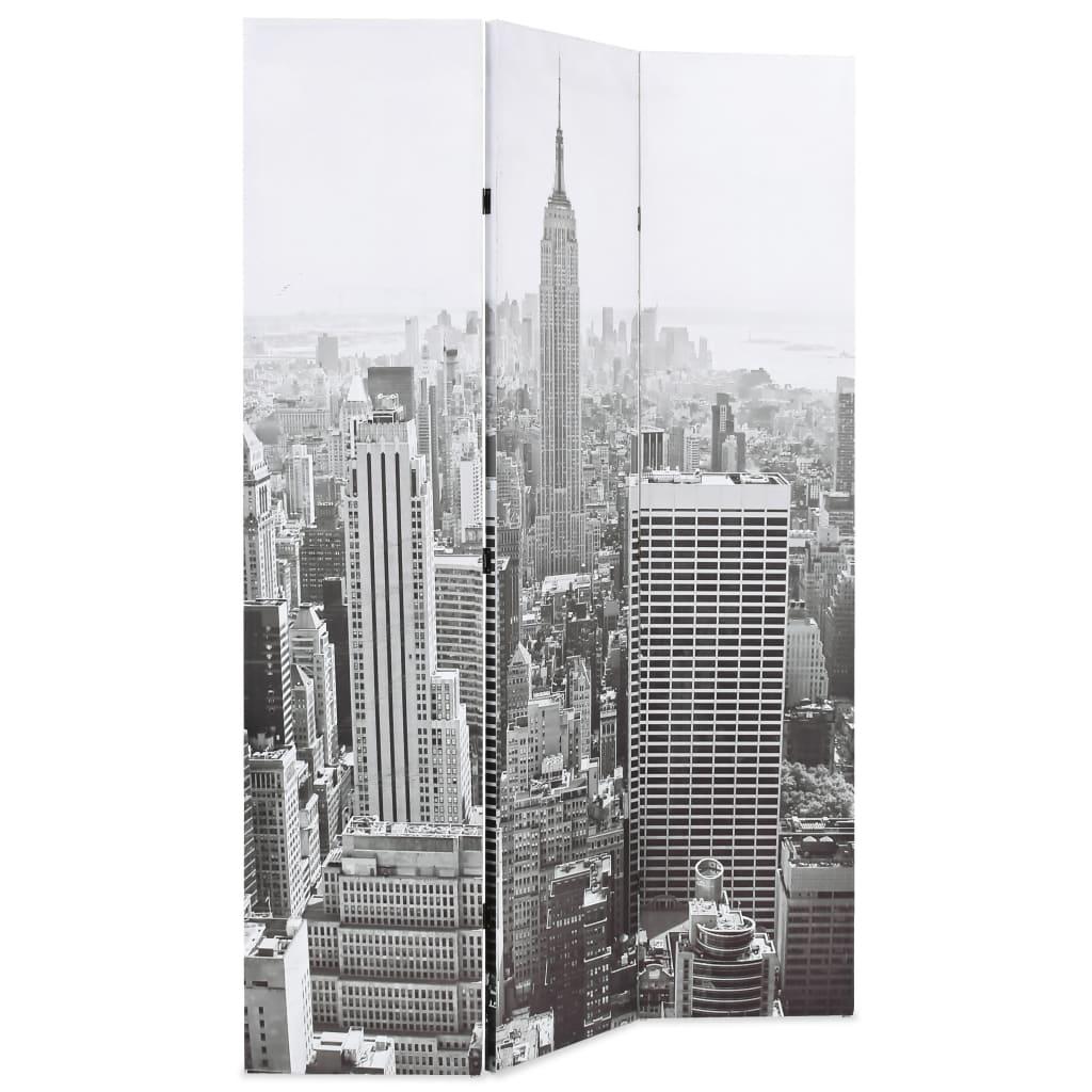 99245857 Raumteiler klappbar 120 x 180 cm New York bei Tag Schwarz-Weiß