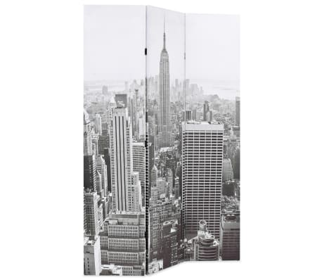 vidaXL Kambario pertvara, 120x170 cm, Niujorkas dieną, juoda ir balta[2/5]