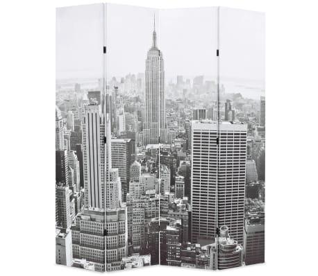 vidaXL Kambario pertvara, 160x170 cm, Niujorkas dieną, juoda ir balta[1/5]