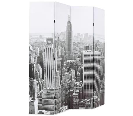 vidaXL Kambario pertvara, 160x170 cm, Niujorkas dieną, juoda ir balta[2/5]