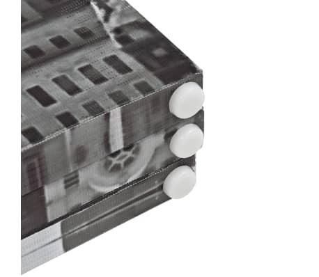 vidaXL Kambario pertvara, 160x170 cm, Niujorkas dieną, juoda ir balta[5/5]