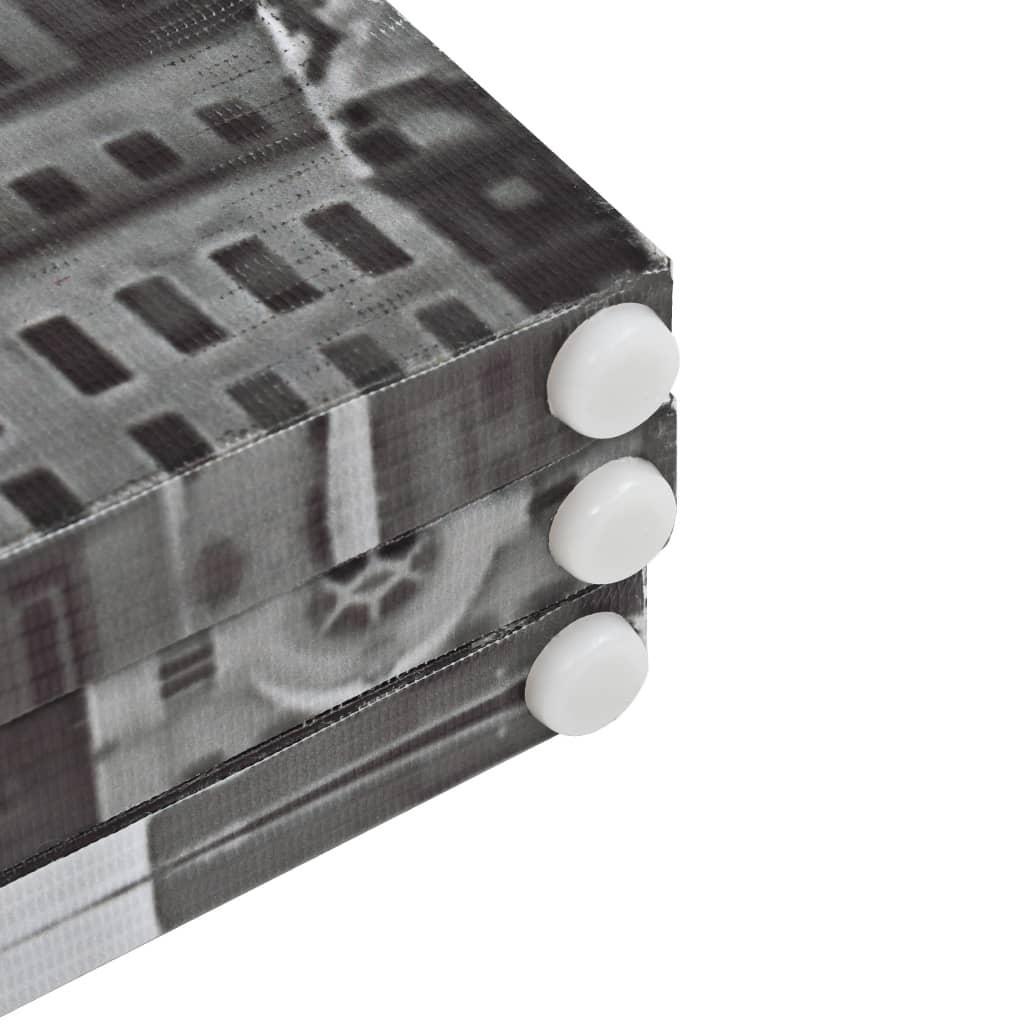 Kamerscherm New York bij daglicht 200x170 cm zwart en wit