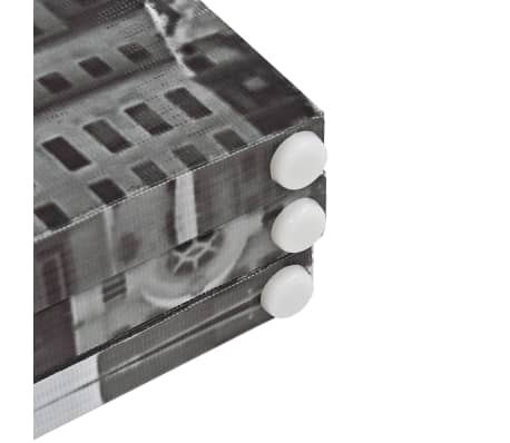vidaXL Kambario pertvara, 200x170 cm, Niujorkas dieną, juoda ir balta[5/5]