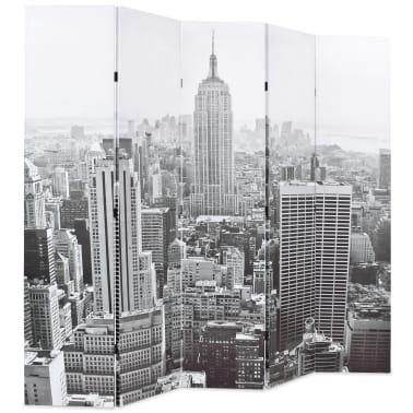 vidaXL Kambario pertvara, 200x170 cm, Niujorkas dieną, juoda ir balta[2/5]