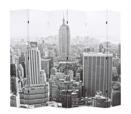 vidaXL Kamerscherm New York bij daglicht 228x170 cm zwart en wit[1/5]