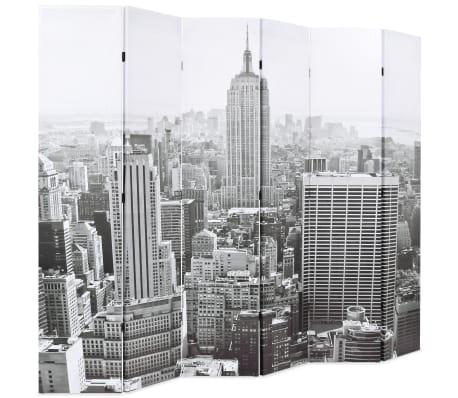 vidaXL Cloison de séparation pliable 228x180 cm New York Noir et blanc[2/5]