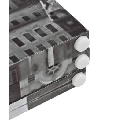 vidaXL Cloison de séparation pliable 228x180 cm New York Noir et blanc[5/5]