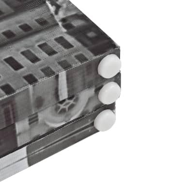 vidaXL Raumteiler klappbar 228 x 170 cm New York bei Tag Schwarz-Weiß[5/5]