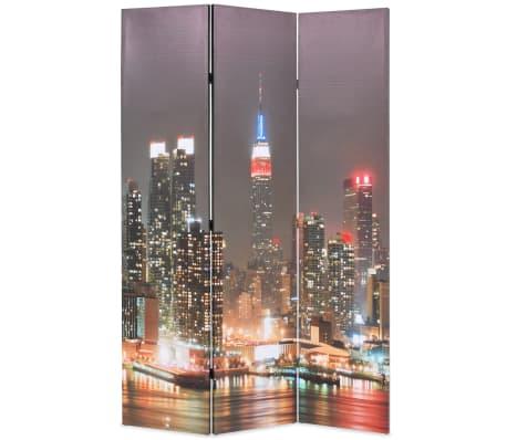 vidaXL Kambario pertvara, 120x170 cm, Niujorkas naktį