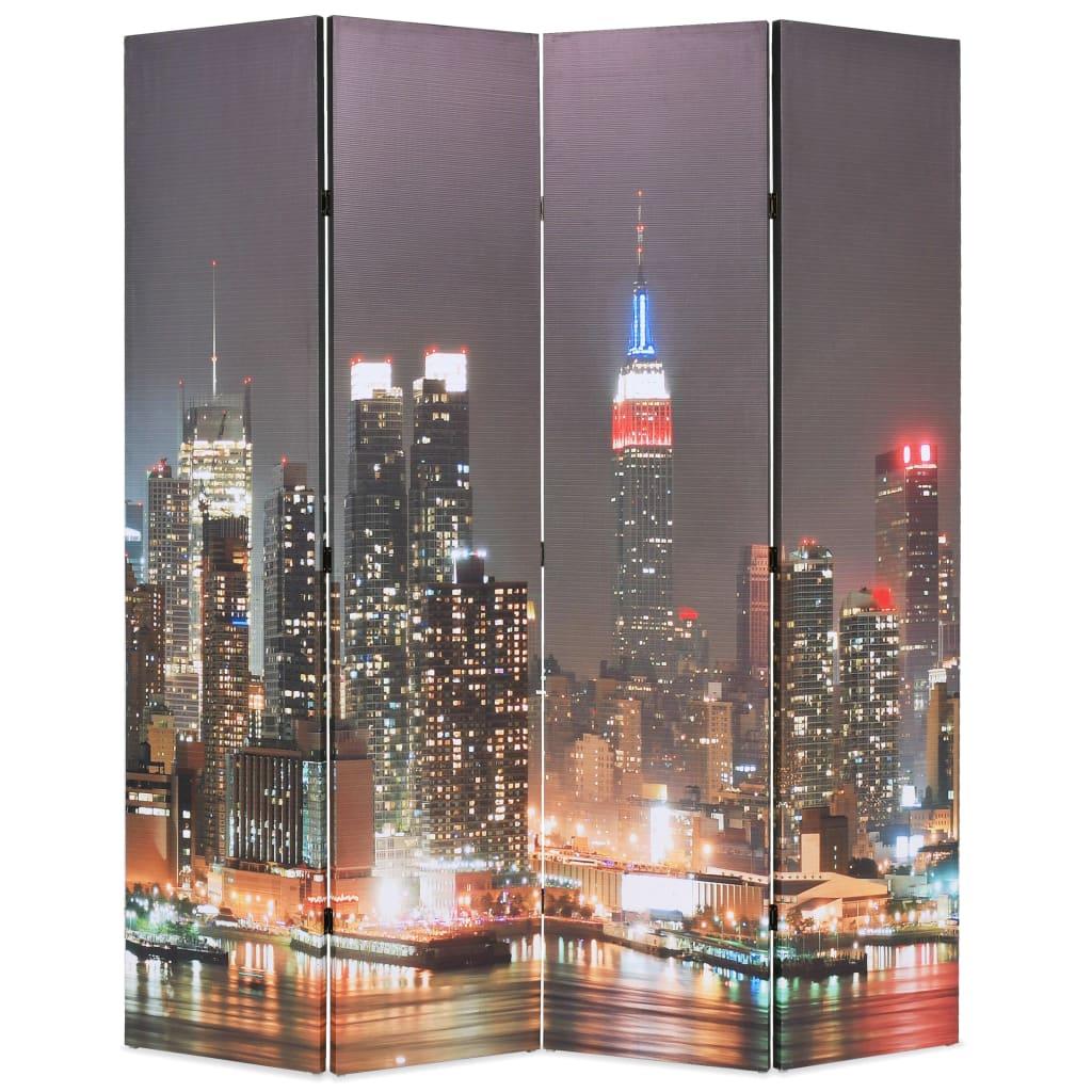 Skládací paraván 160 x 170 cm New York by Night