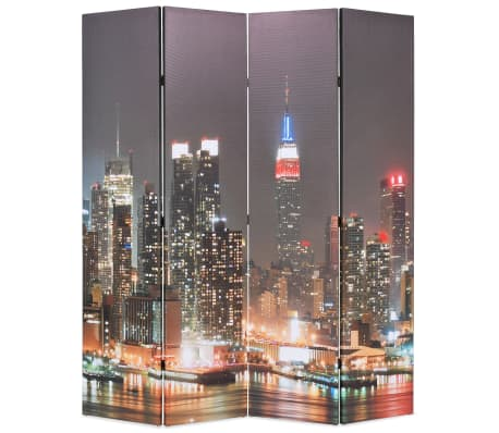 vidaXL foldbar rumdeler 160 x 170 cm New York by Night[1/5]