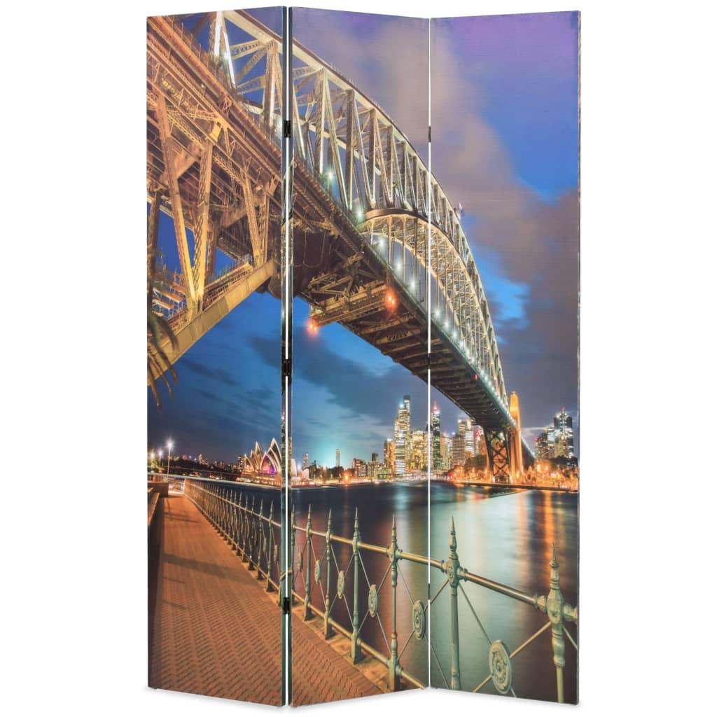 Skládací paraván 120 x 170 cm Přístavní most v Sydney