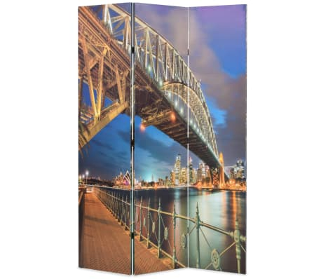 vidaXL Cloison de séparation pliable 120x180 cm Harbour Bridge Sydney[1/5]