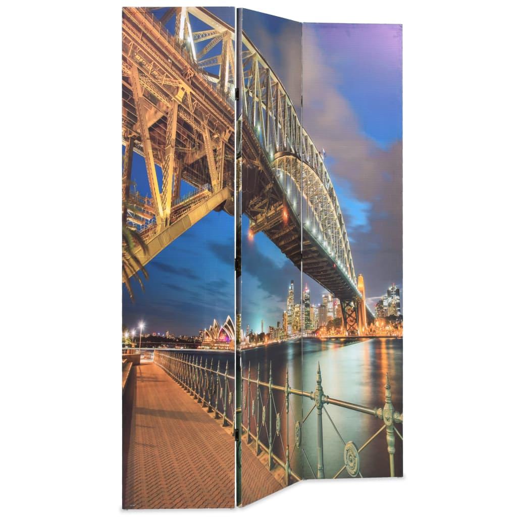 99245865 Raumteiler klappbar 120 x 180 cm Sydney Harbour Bridge