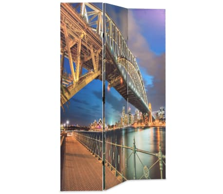 vidaXL Сгъваем параван за стая, 120x170 см, Сидни Харбър Бридж[2/5]