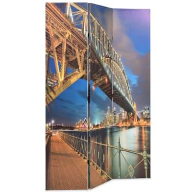 vidaXL Zložljiv paravan 120x170 cm Sydneyski pristaniški most[2/5]