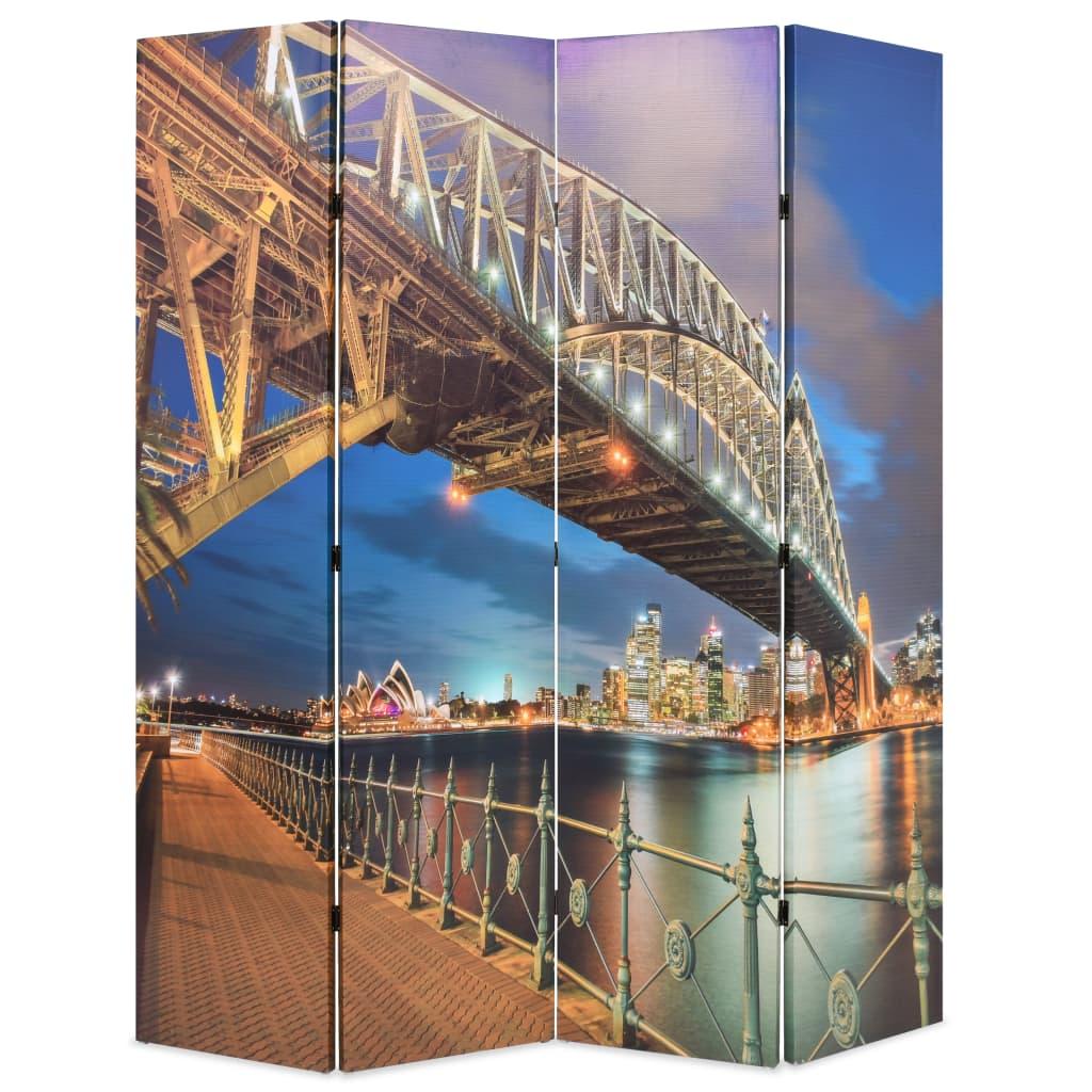 Skládací paraván 160 x 170 cm Přístavní most v Sydney