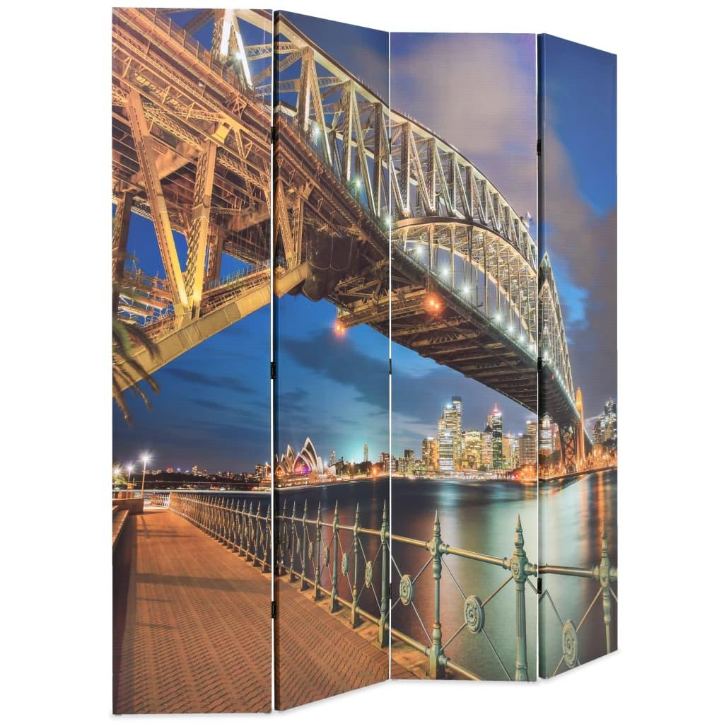 99245866 Raumteiler klappbar 160 x 180 cm Sydney Harbour Bridge