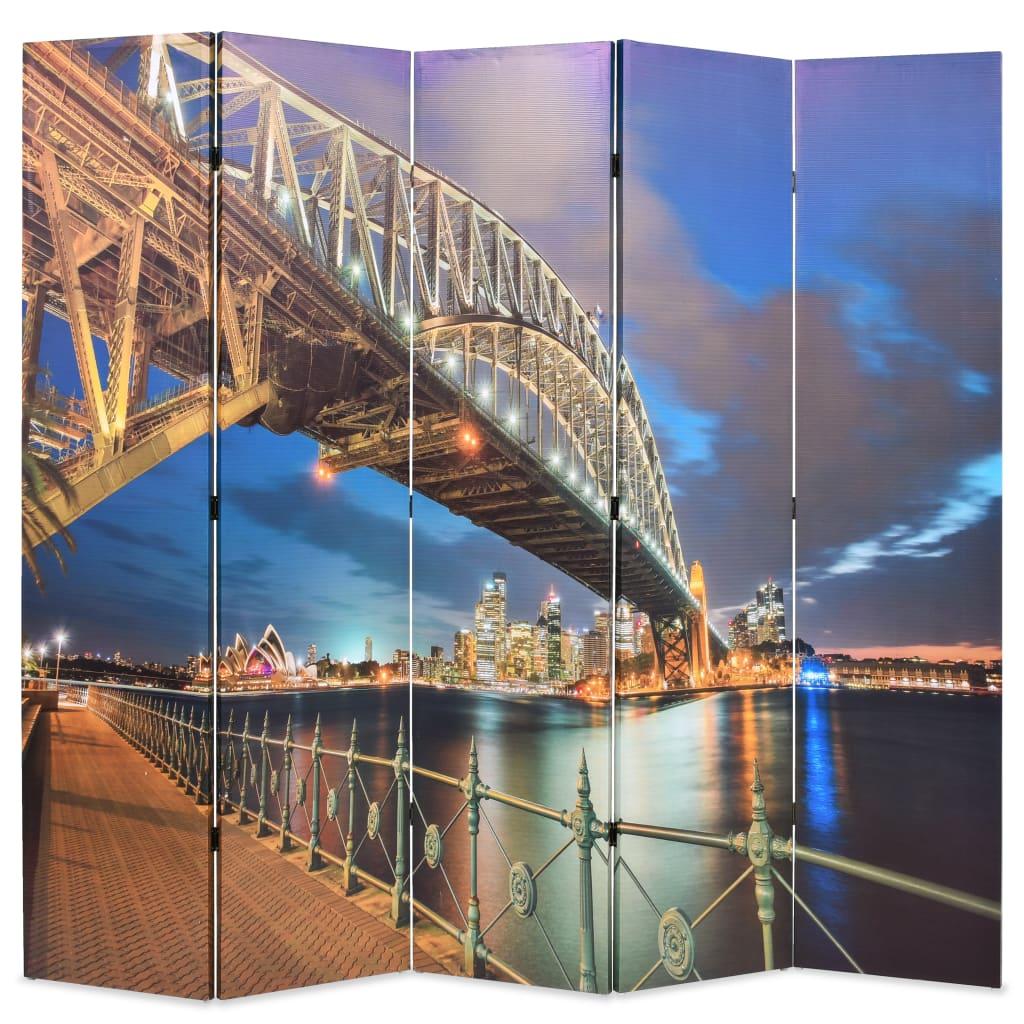 Skládací paraván 200 x 170 cm Přístavní most v Sydney