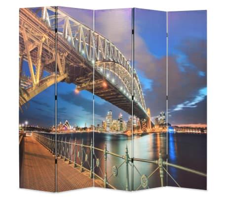 vidaXL Sulankst. kambario pertvara, 200x170cm, Sidnėjaus uosto tiltas[1/5]