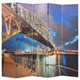vidaXL Skladací paraván, 200x180 cm potlač s mostom v Sydney