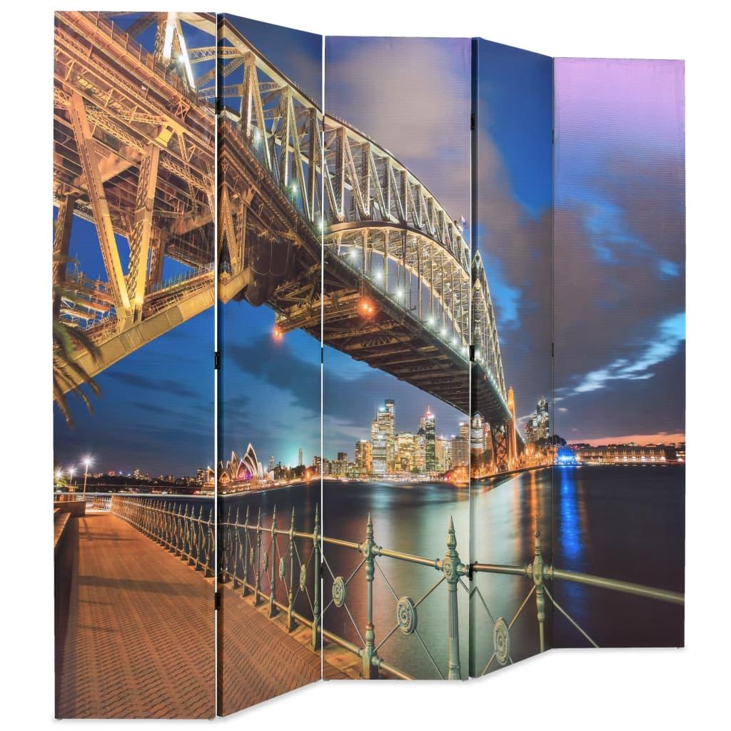 99245867 Raumteiler klappbar 200 x 180 cm Sydney Harbour Bridge