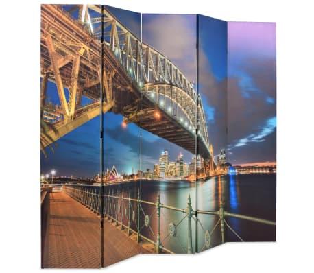 vidaXL Sulankst. kambario pertvara, 200x170cm, Sidnėjaus uosto tiltas[2/5]