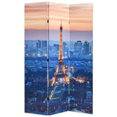 vidaXL Biombo divisor plegable 120x170 cm París de noche[1/5]