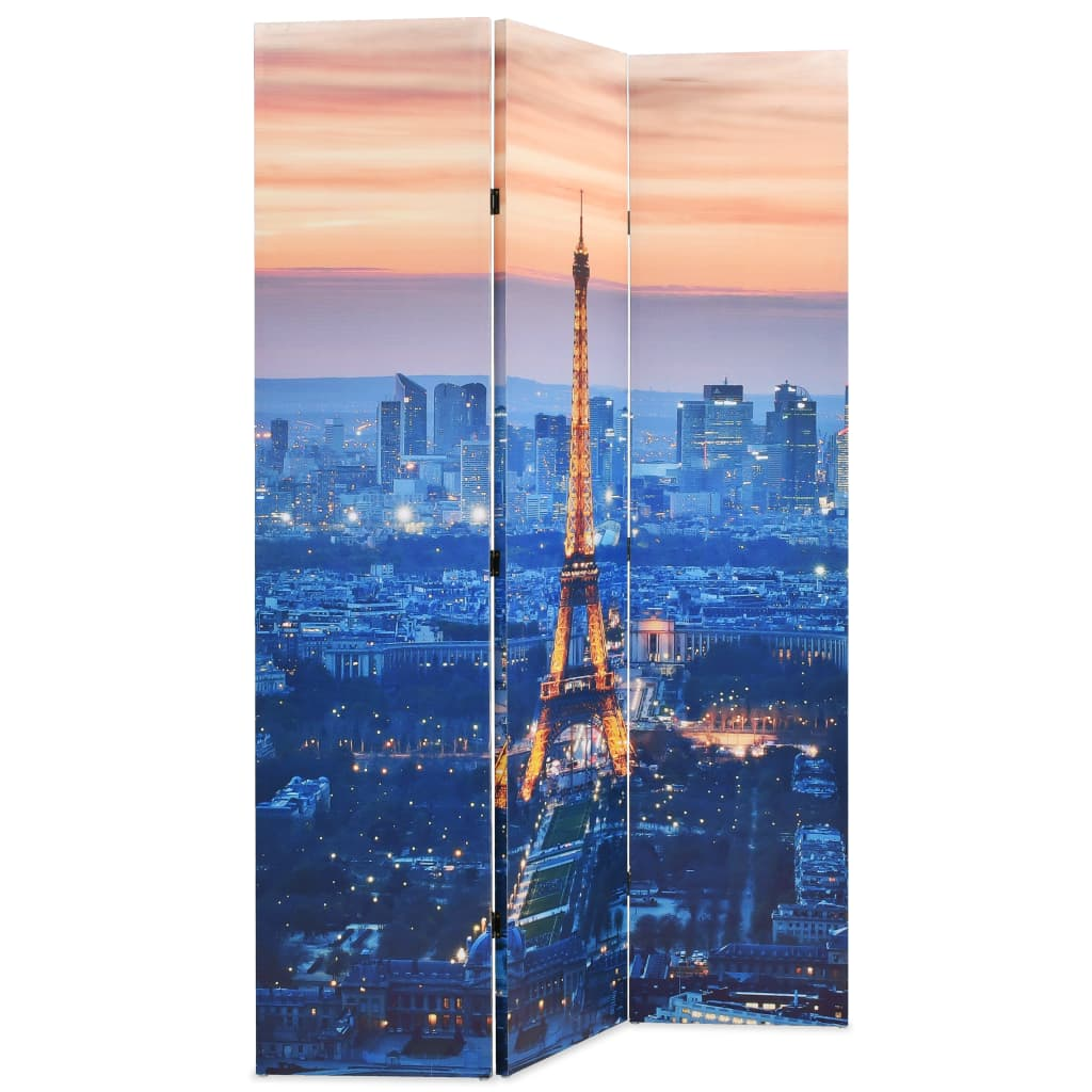 99245869 Raumteiler klappbar 120 x 180 cm Paris bei Nacht