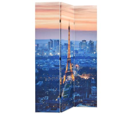 vidaXL Biombo divisor plegable 120x180 cm París de noche[2/5]