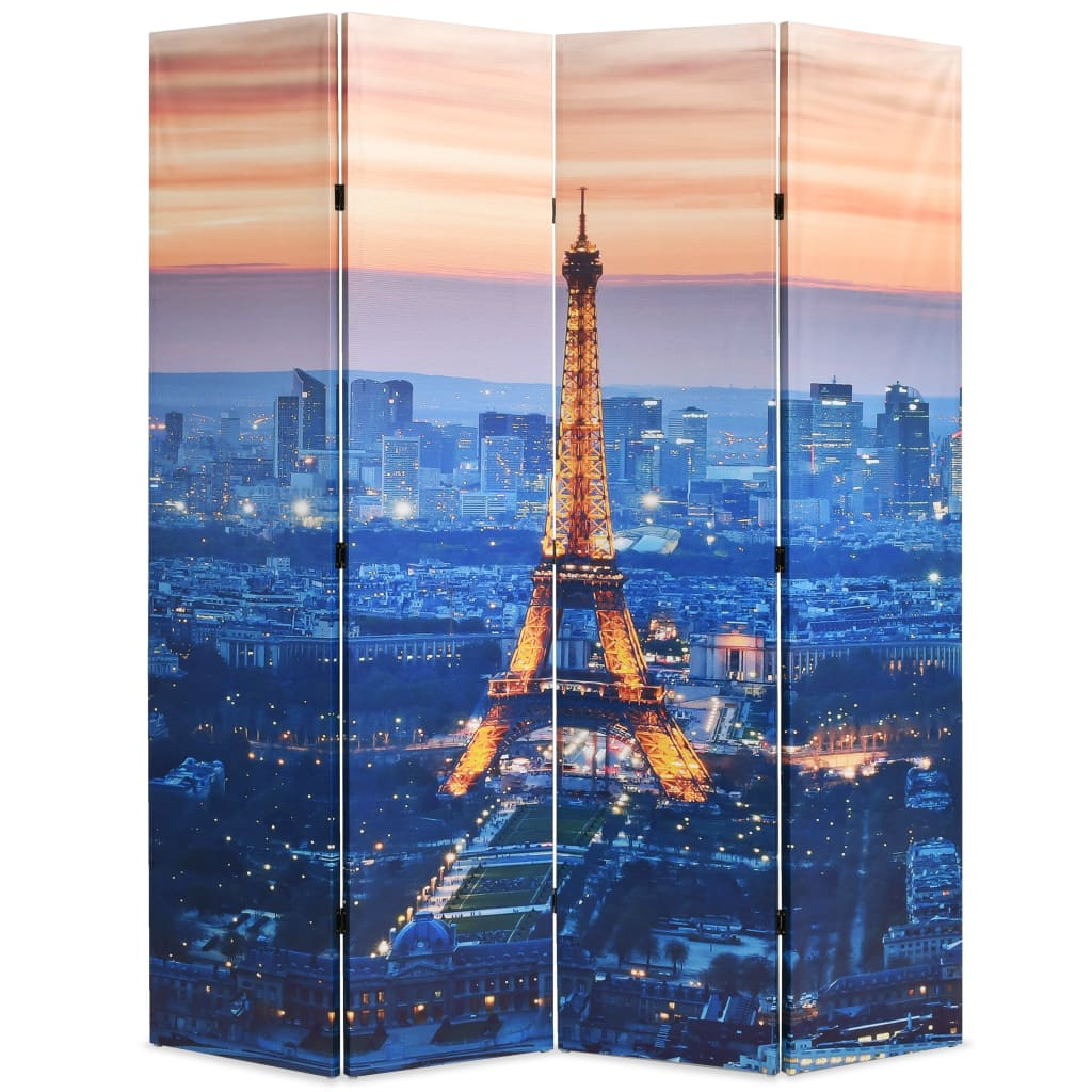 vidaXL Paravan de cameră pliabil, 160 x 170 cm, Parisul noaptea vidaxl.ro