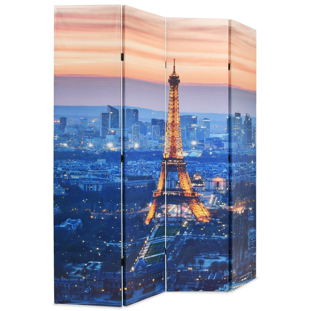 99245870 Raumteiler klappbar 160 x 180 cm Paris bei Nacht