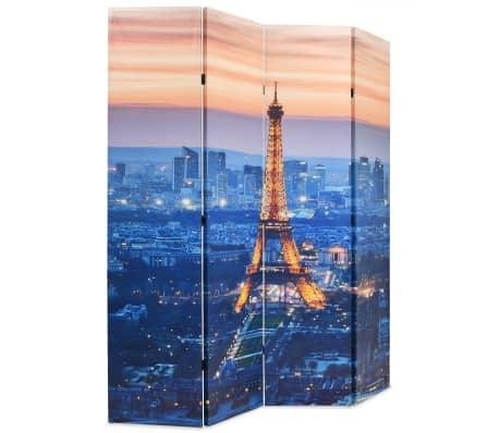 vidaXL Biombo divisor plegable 160x170 cm París de noche[2/5]