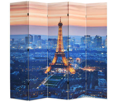vidaXL Sammenleggbar romdeler 200x170 cm Paris natt