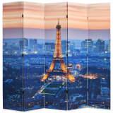 vidaXL istabas aizslietnis, 200x180 cm, saliekams, Parīze naktī