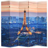 vidaXL Zložljiv paravan 200x170 cm Pariz ponoči