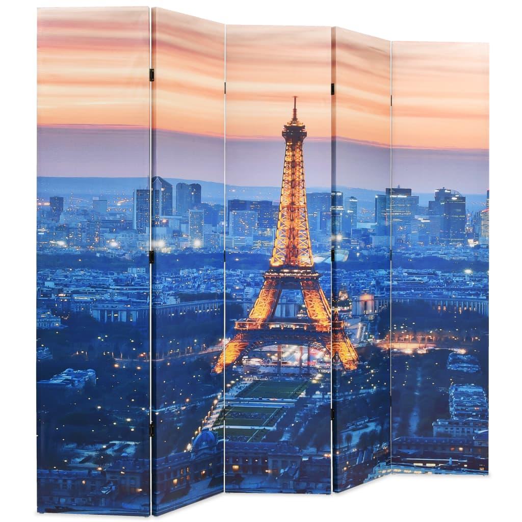 99245871 Raumteiler klappbar 200 x 180 cm Paris bei Nacht