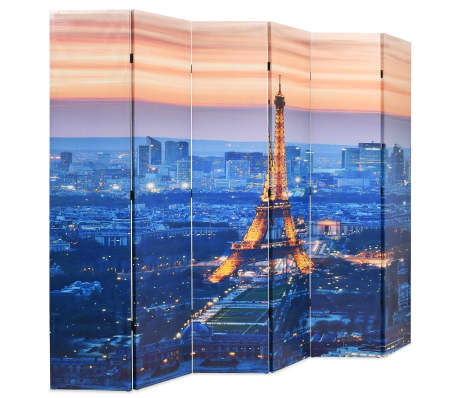 vidaXL Sulankstoma kambario pertvara, 228x170 cm, Paryžius naktį[2/5]