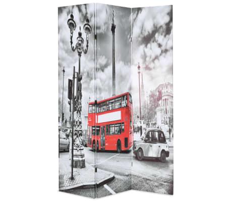 vidaXL Kambario pertvara, 120x170 cm, Londono autob., juoda ir balta[1/5]