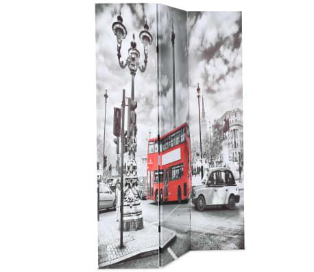 vidaXL Kambario pertvara, 120x170 cm, Londono autob., juoda ir balta[2/5]