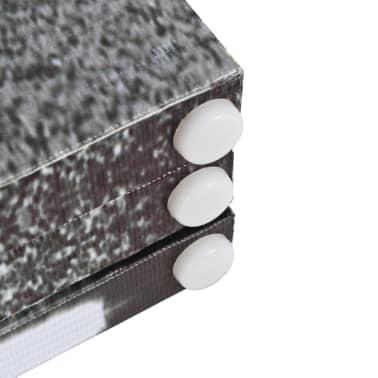 vidaXL Kambario pertvara, 120x170 cm, Londono autob., juoda ir balta[5/5]
