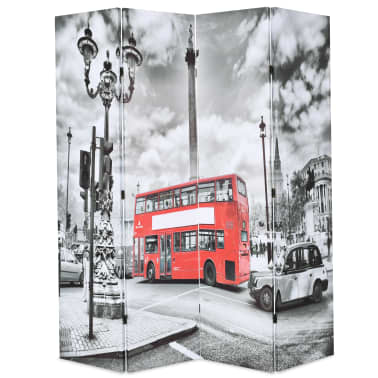 vidaXL Kambario pertvara, 160x170 cm, Londono autob., juoda ir balta[1/5]