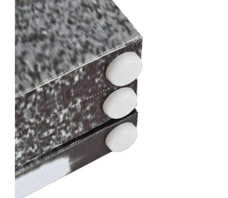 vidaXL Kambario pertvara, 160x170 cm, Londono autob., juoda ir balta[3/5]