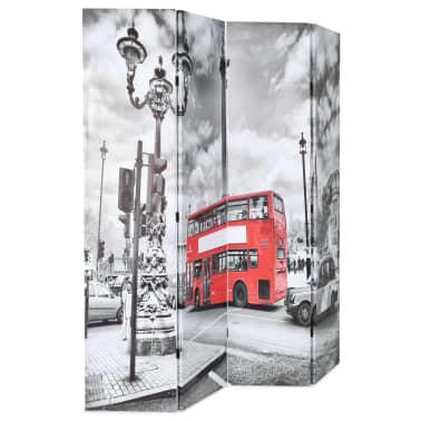 vidaXL Kambario pertvara, 160x170 cm, Londono autob., juoda ir balta[2/5]
