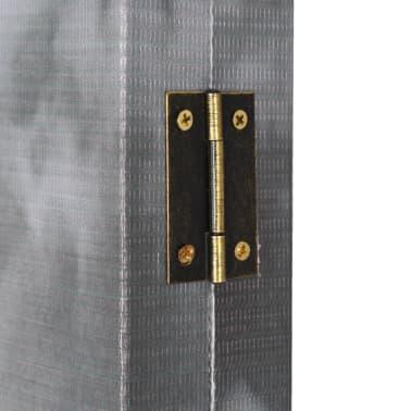 vidaXL Kambario pertvara, 160x170 cm, Londono autob., juoda ir balta[5/5]